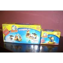 Set X 2 Juego Didactico Ladrillos Estudio Cine Devoto Toys