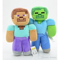 Minecraft Peluches Steve Zombie Muñecos 30cm Aprox.