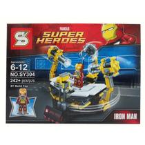 Set Iron Man C/lego Taller Armadura Super Heroes