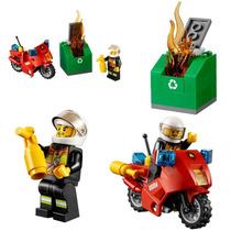 Set Lego City Minifigura + Moto + Accesorios + Contenedor