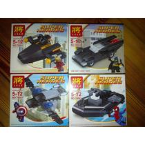 Super Heroes Minifiguras Con Vehiculo - Promo Con Regalo