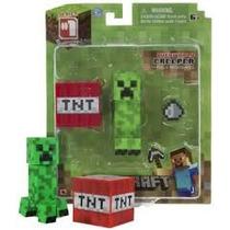 Minecraft Overworld Creeper Muñeco Articulado Serie 1 Fully