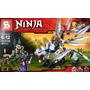 Ninjago Dragon De Titanio Zane Plateado Minifiguras Marca Sy
