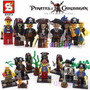 Piratas Del Caribe Minifiguras X8 - Capitán Jack Sparrow