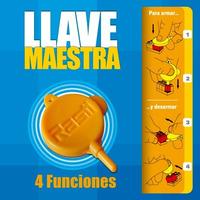 Llave Maestra Rasti Oficial 4 Funciones