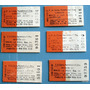 6 Boletos Tren Carton Sin Uso F.c.sarmiento Vendo Lote