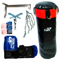 Kit Boxeo Full! Bolsa + Guantin + Vendas + Cadenas + Soporte