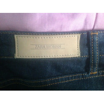 Nueva Falda Tubo Zara! De Jeans Elastizado Azul Oscuro! (38)