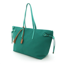 Bolsa Shopping C/tiras Laterales Verde Brandy
