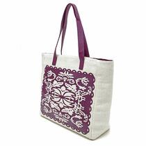 Bolsa Shopping Con Estampa Violeta Brandy