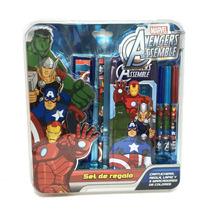 Avengers Set De Regalo Escolar Con Lic.marvel Original