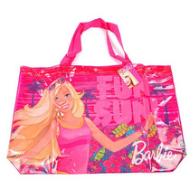 Bolso Playero Translucido Barbie Grande Mattel