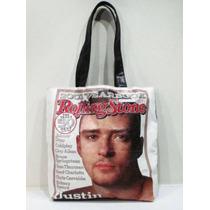 Bolso Justin Timberlake Rolling Stone Magazine Import Nuevo!