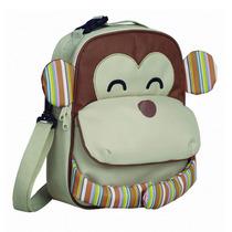 Mochila Lunchera Termica Monito Infantil Animales Zoo Bags