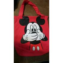 Bolso Mickey Y Minnie Pack Por 6 Unidades Surtidas Por Mayor