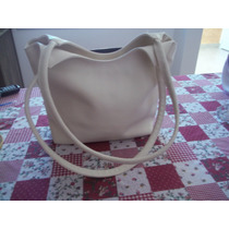 Divina Cartera / Bolso T & Co - Color Manteca - Impecable !!