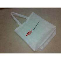 Bolsas De Friselina Con Su Logo Estampado Incluido 40x40 .