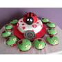 Tortas Decoradas - Vaquita San Antonio - Ladybug