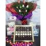 Bombones De Chocolate Flores Mas Peluche En Caja 1000pesos