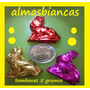 Bombones De Chocolate Conejo De Pascua 5 Gs Papel Metalizado