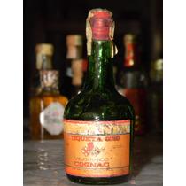 Antigua Botellita Cognac Hispania Etiqueta Oro