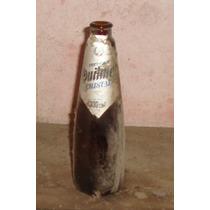 Botella De Cerveza Antigua- Etiquetas Dañadas