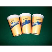 3 Vasos De Cerveza Quilmes Sin Uso -