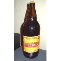 Antigua Botella De Cerveza Pilsen Llena Sin Abrir