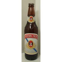 Vieja Botella Vidrio Cerveza Antarctica Llena 1990