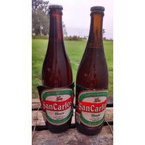 Antigua Botella De Cerveza San Carlos Llena Sin Destapar