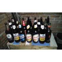 Botellas De Cerveza Vs Marcas Con O Sin Etiquetas.