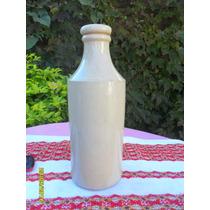 Antigua Botella Gress Porron Sellado Glasgow Poterry Leer