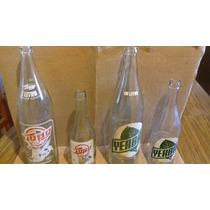 Lote De 4 Botellas Viejas Liquido