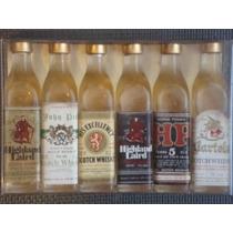 Pack Italiano De 6 Botellitas Miniatura De Whisky Escocés