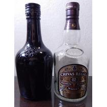 2 Botellas Vacias Chivas Regal Y Baileys 375 Ml