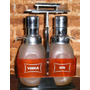 Dispenser Con 2 Botellas Para Whisky Coñac Vodka Gin
