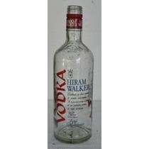 Antigua Botella De Vodka Hiram Walker - Envase De Vidrio