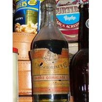 Antigua Botella De Barniz Goma Laca El Mono Ind Argentina !