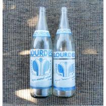 Botellas Agua Lourdes Antiguas Par