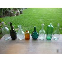 Botellas Antiguas De Vino, Licor, Ginebra, Para Decoracion