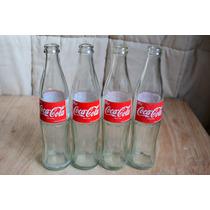 4 Antiguas Botellas De Bar Marca Coca Cola