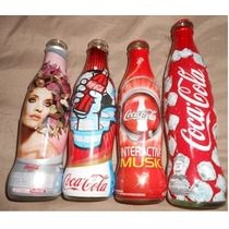 4 Botellas De Coca- Cola Coleccionables
