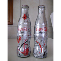 Set De Botella Coca Cola Light Nubes Y Burbujas 2007 Llenas