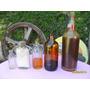 Lote De Antiguas Botellas Frascos Con Contenido Carpinteria