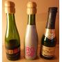 3 Minibotellas Vacias De Champagne Para Colección