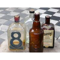 Antiguas Botellas Vacias Anis 8hermanos Licor Cointreau Bols