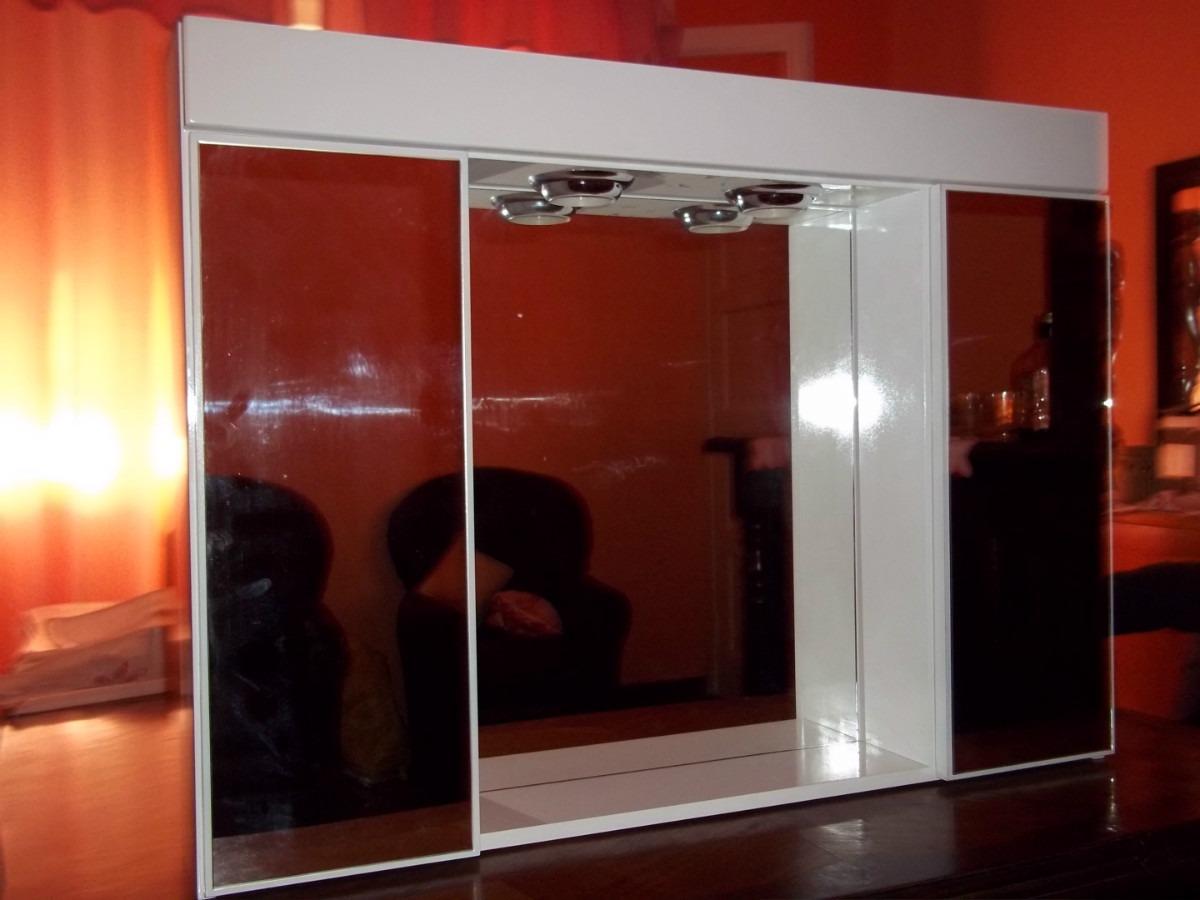 Botiquin Para Baño En Pvc:Botiquin Espejo Peinador De Baño Tríptico Laqueado Nuevooo – $ 654