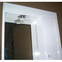 Botiquin Con Espejo Para Baño Laqueado Con Luz - Peinador