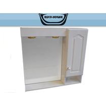 Botiquín Espejo Baño Peinador Laqueado Blanco Con Luz 60x60