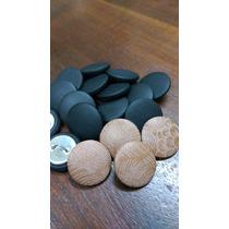 Botones Forrados Cuero Genuino 6 Unidx$75 Capitone-sastreria